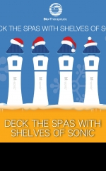 DECK THE SPAS WITH SHELVES OF SONIC